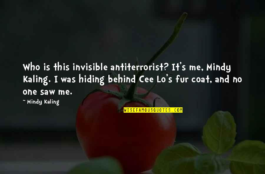 Mindy Quotes By Mindy Kaling: Who is this invisible antiterrorist? It's me, Mindy