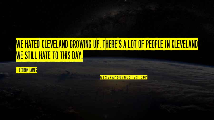Minions Mosquito Quotes By LeBron James: We hated Cleveland growing up. There's a lot