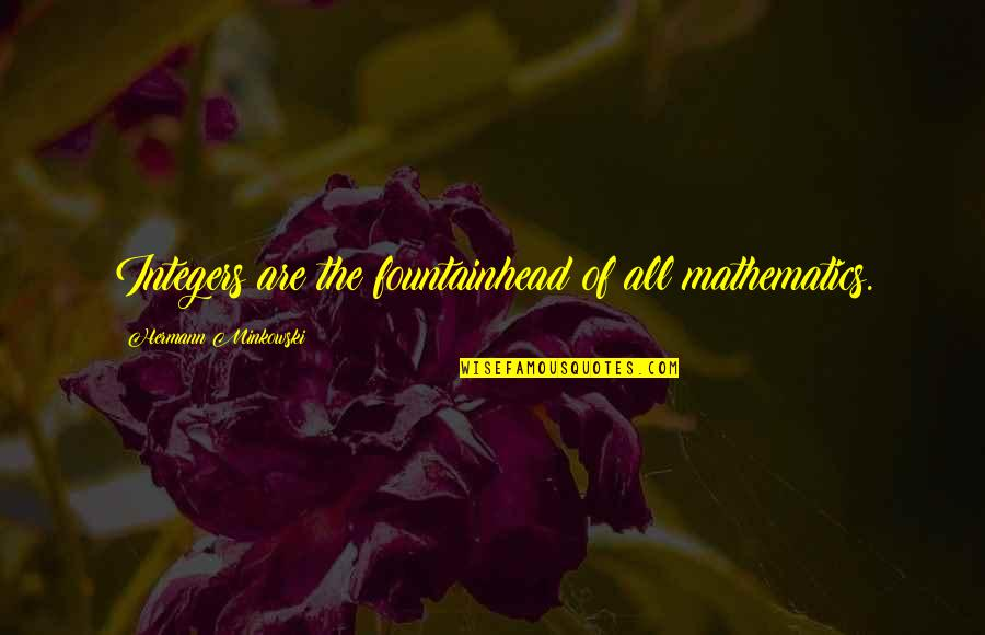 Minkowski Quotes By Hermann Minkowski: Integers are the fountainhead of all mathematics.