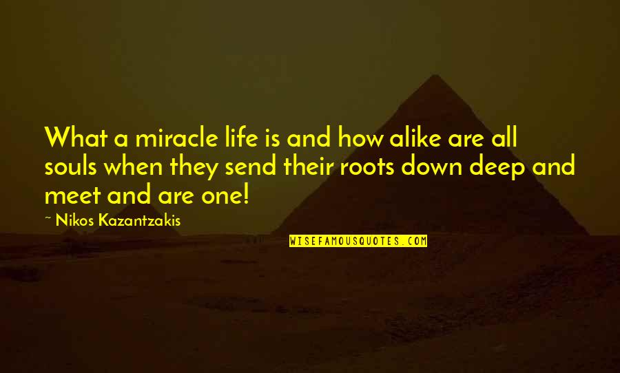 Miracle And Life Quotes By Nikos Kazantzakis: What a miracle life is and how alike
