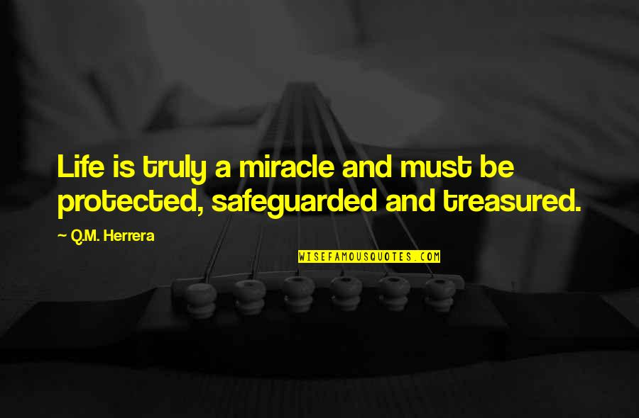 Miracle And Life Quotes By Q.M. Herrera: Life is truly a miracle and must be
