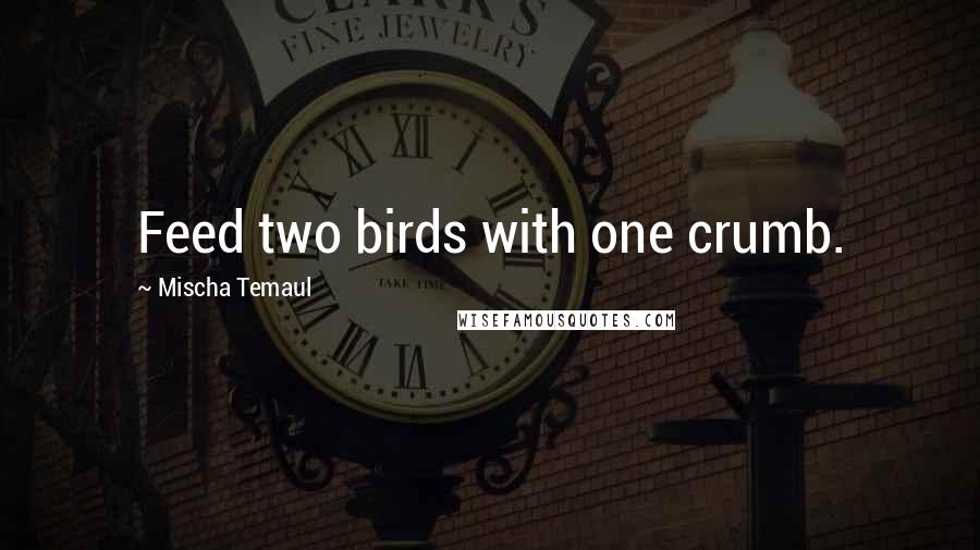 Mischa Temaul quotes: Feed two birds with one crumb.