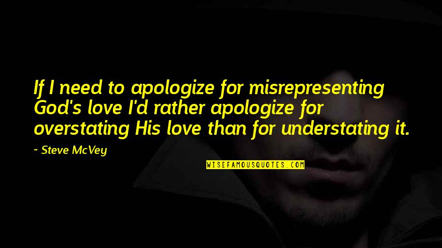 Misrepresenting Quotes By Steve McVey: If I need to apologize for misrepresenting God's