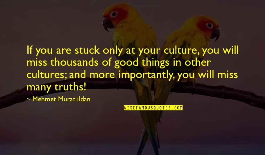 Miss All Of You Quotes By Mehmet Murat Ildan: If you are stuck only at your culture,
