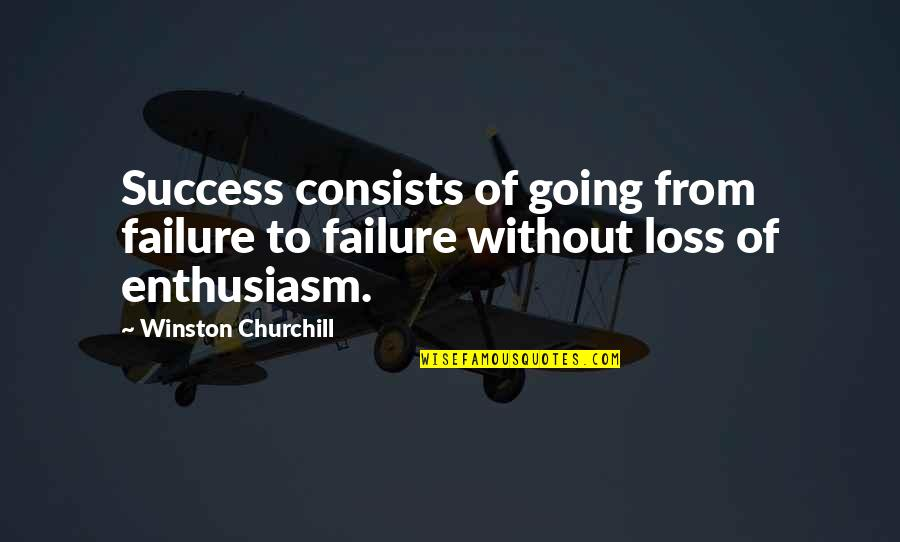 Miss Being Cuddled Quotes By Winston Churchill: Success consists of going from failure to failure