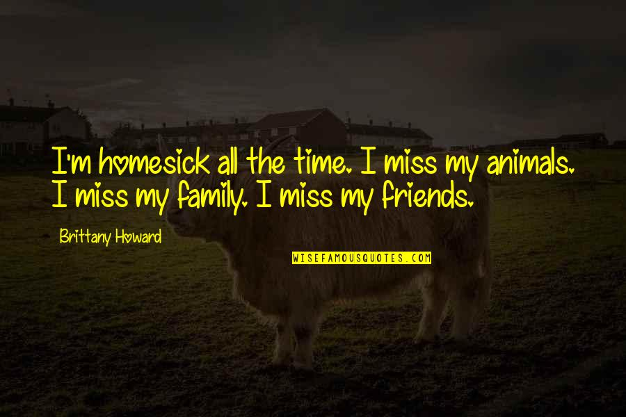 Miss U All Friends Quotes By Brittany Howard: I'm homesick all the time. I miss my