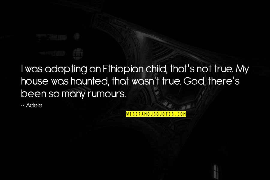 Missing The One Who Hurt You Quotes By Adele: I was adopting an Ethiopian child, that's not