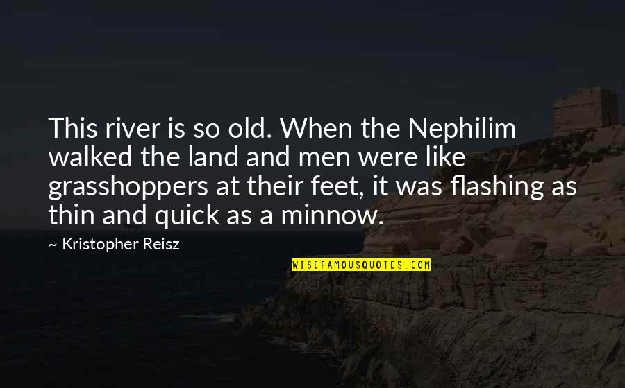 Mississippi Quotes By Kristopher Reisz: This river is so old. When the Nephilim
