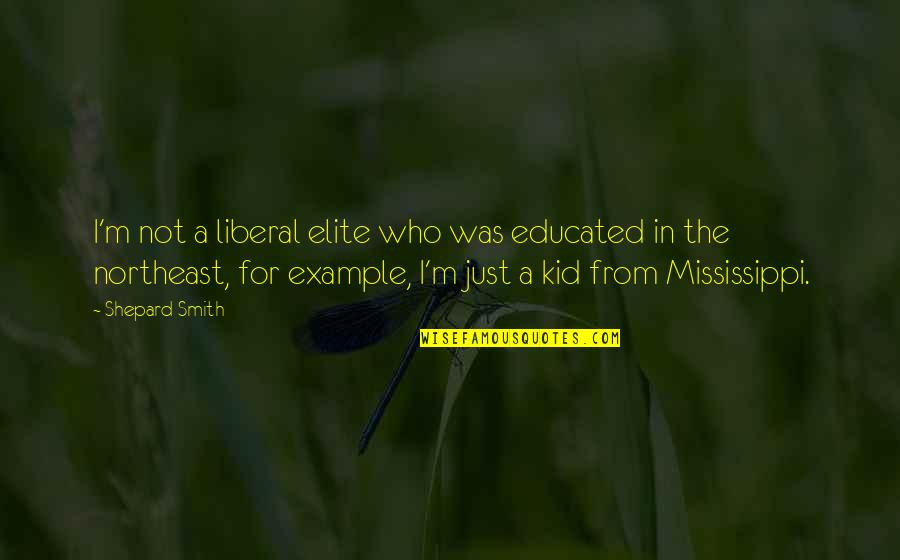 Mississippi Quotes By Shepard Smith: I'm not a liberal elite who was educated