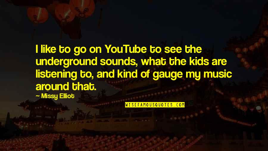 Missy Quotes By Missy Elliot: I like to go on YouTube to see
