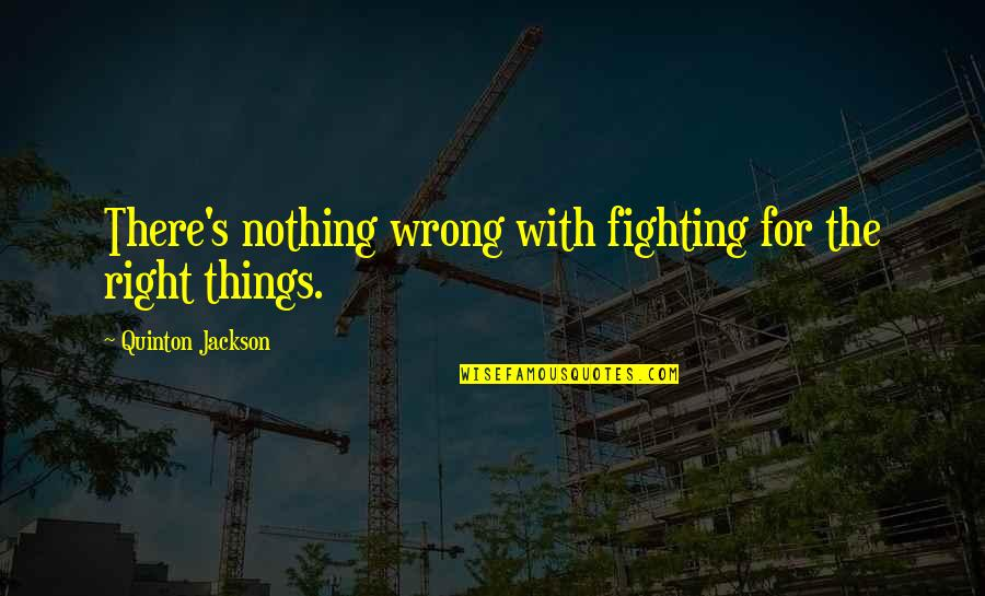 Mma Fighting Quotes By Quinton Jackson: There's nothing wrong with fighting for the right