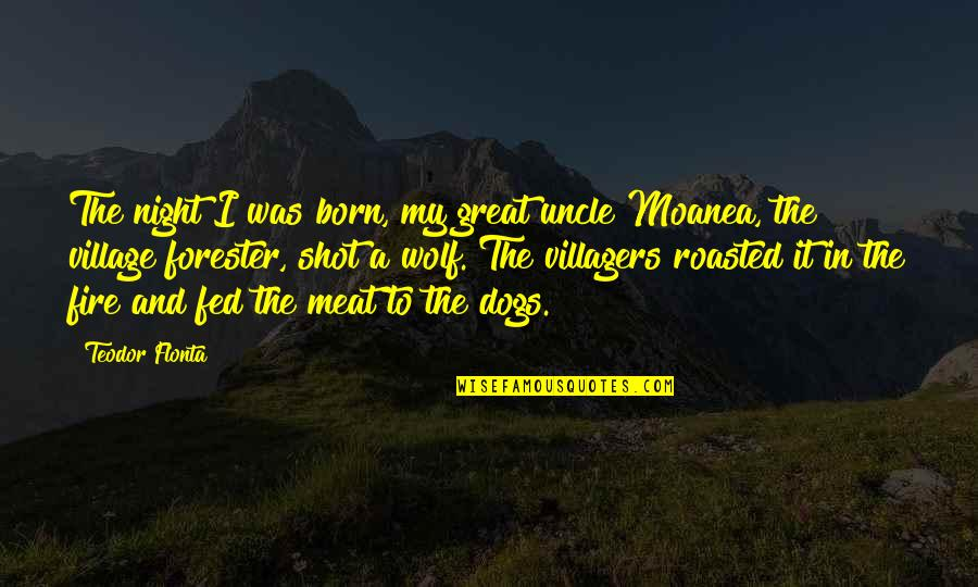Moanea Quotes By Teodor Flonta: The night I was born, my great uncle