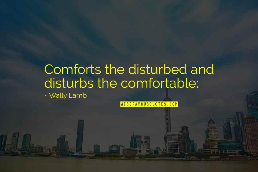 Mohammed Daud Khan Quotes By Wally Lamb: Comforts the disturbed and disturbs the comfortable: