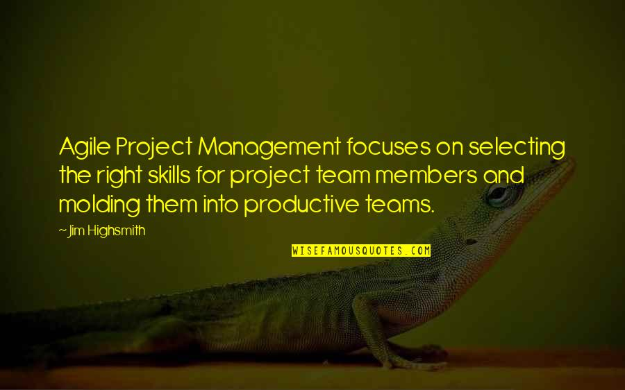 Molding Quotes By Jim Highsmith: Agile Project Management focuses on selecting the right