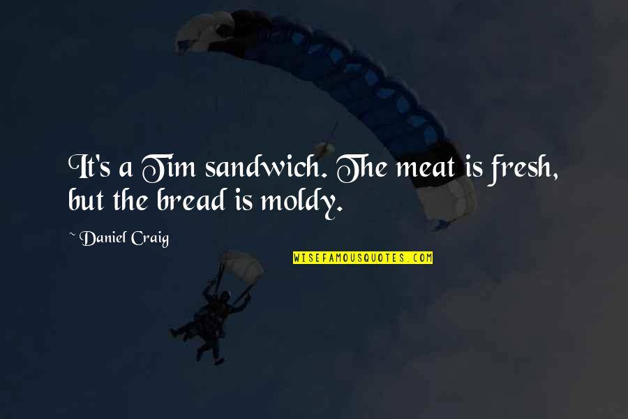 Moldy Quotes By Daniel Craig: It's a Tim sandwich. The meat is fresh,