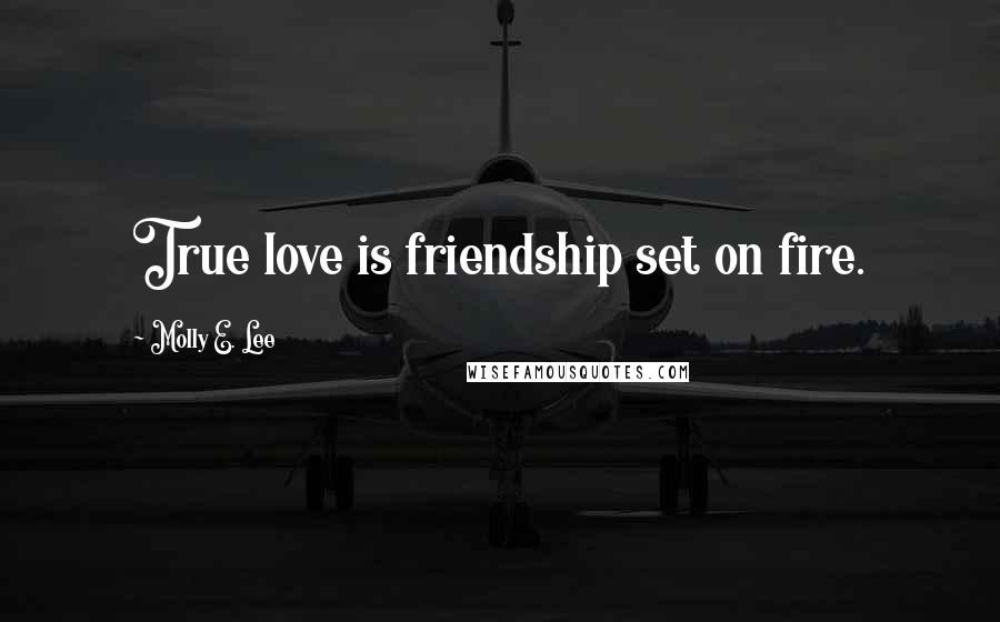 Molly E. Lee quotes: True love is friendship set on fire.