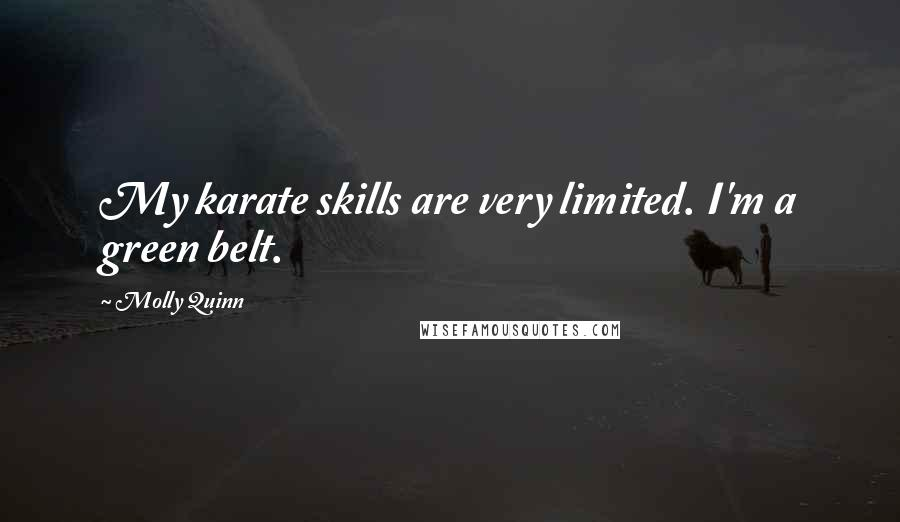 Molly Quinn quotes: My karate skills are very limited. I'm a green belt.
