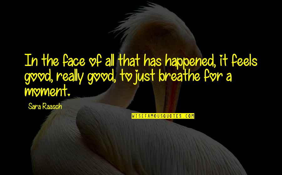 Moment Of Happiness Quotes By Sara Raasch: In the face of all that has happened,