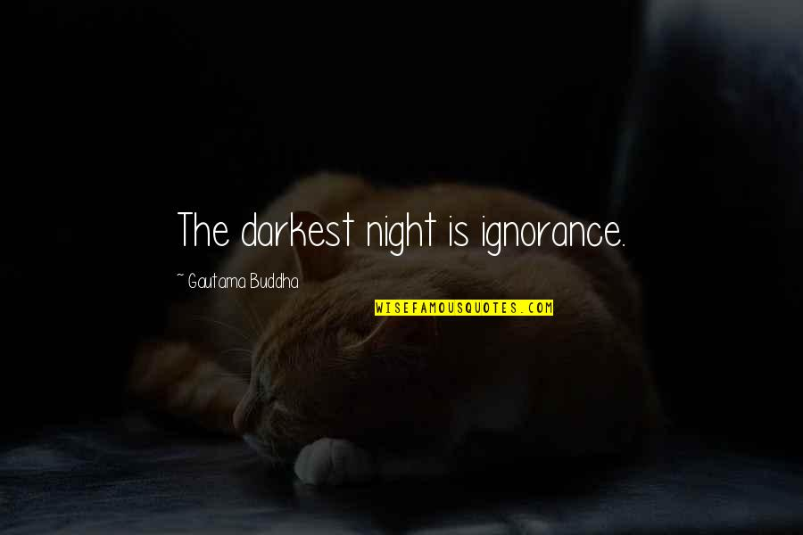 Moment Of Madness Quotes By Gautama Buddha: The darkest night is ignorance.