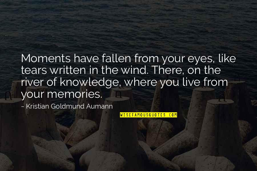 Moments And Memories Quotes By Kristian Goldmund Aumann: Moments have fallen from your eyes, like tears