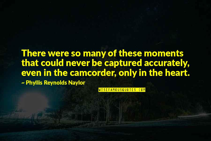 Moments And Memories Quotes By Phyllis Reynolds Naylor: There were so many of these moments that