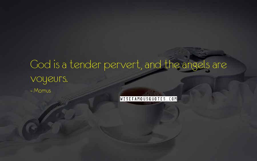Momus quotes: God is a tender pervert, and the angels are voyeurs.