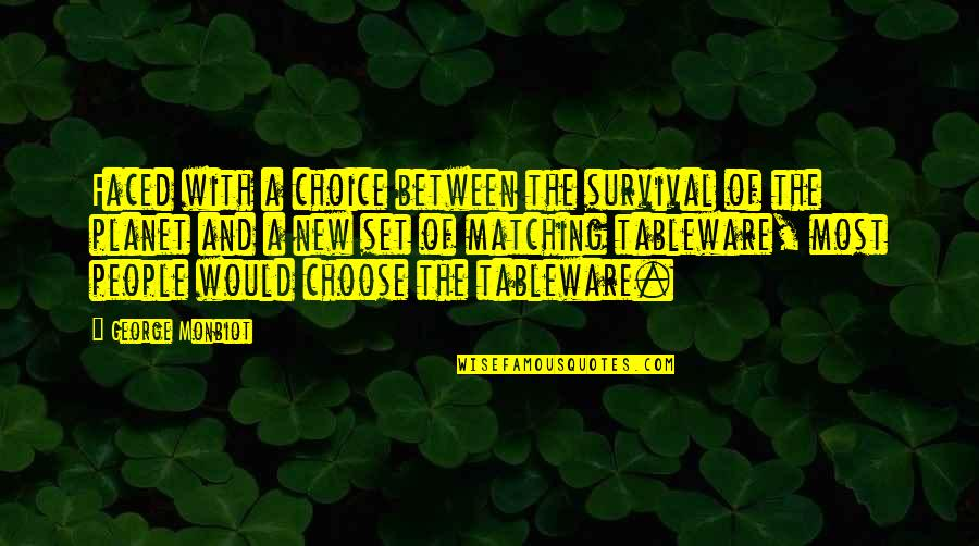 Monbiot Quotes By George Monbiot: Faced with a choice between the survival of
