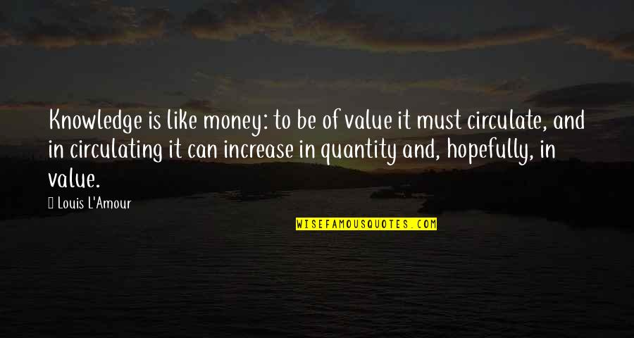 Money And Knowledge Quotes By Louis L'Amour: Knowledge is like money: to be of value