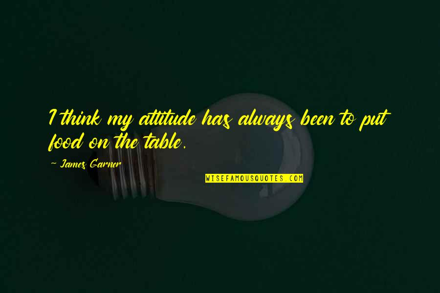 Money Corruption Quotes By James Garner: I think my attitude has always been to
