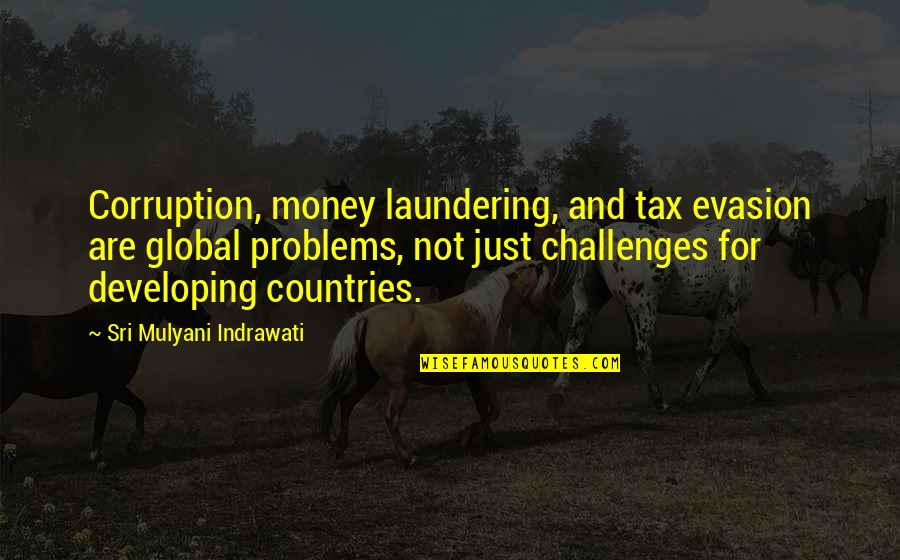 Money Corruption Quotes By Sri Mulyani Indrawati: Corruption, money laundering, and tax evasion are global