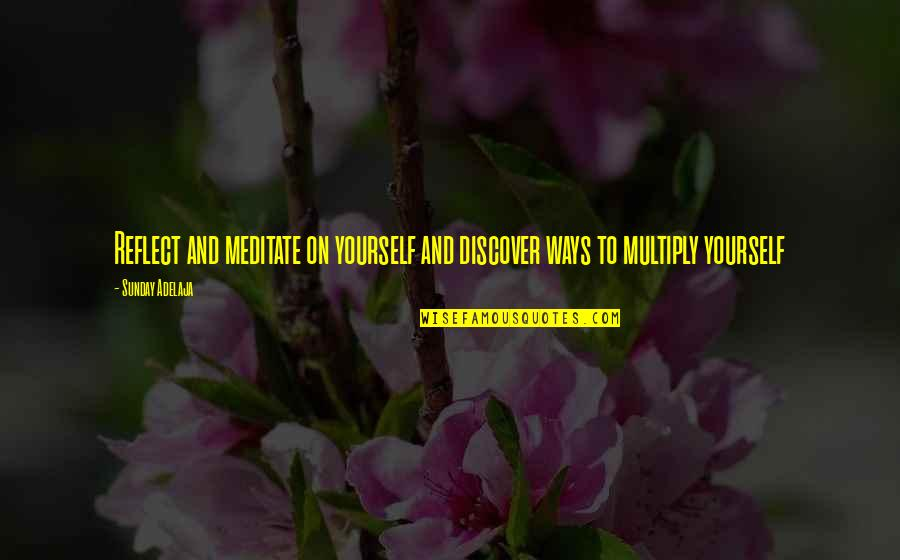 Money Life Quotes By Sunday Adelaja: Reflect and meditate on yourself and discover ways