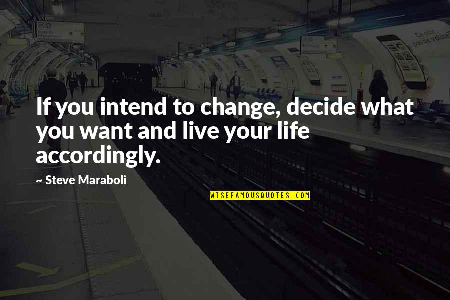 Monga 2010 Quotes By Steve Maraboli: If you intend to change, decide what you