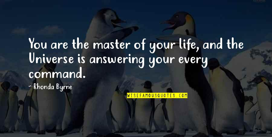 Mongodb Regex Quotes By Rhonda Byrne: You are the master of your life, and