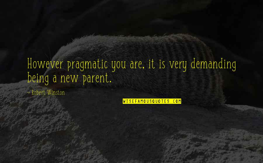 Mono Acting Quotes By Robert Winston: However pragmatic you are, it is very demanding