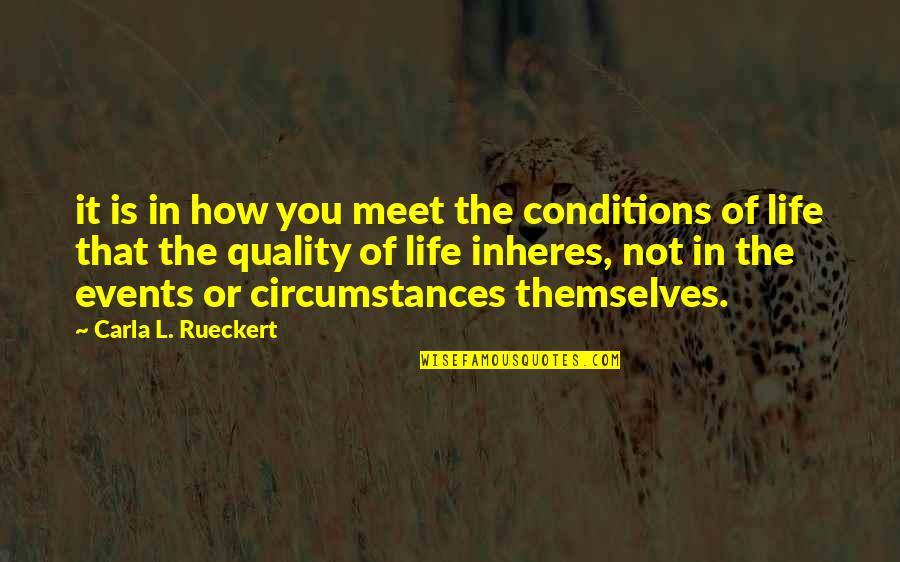Monsieur Hire Quotes By Carla L. Rueckert: it is in how you meet the conditions
