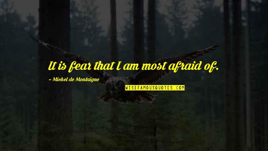 Montaigne Quotes By Michel De Montaigne: It is fear that I am most afraid