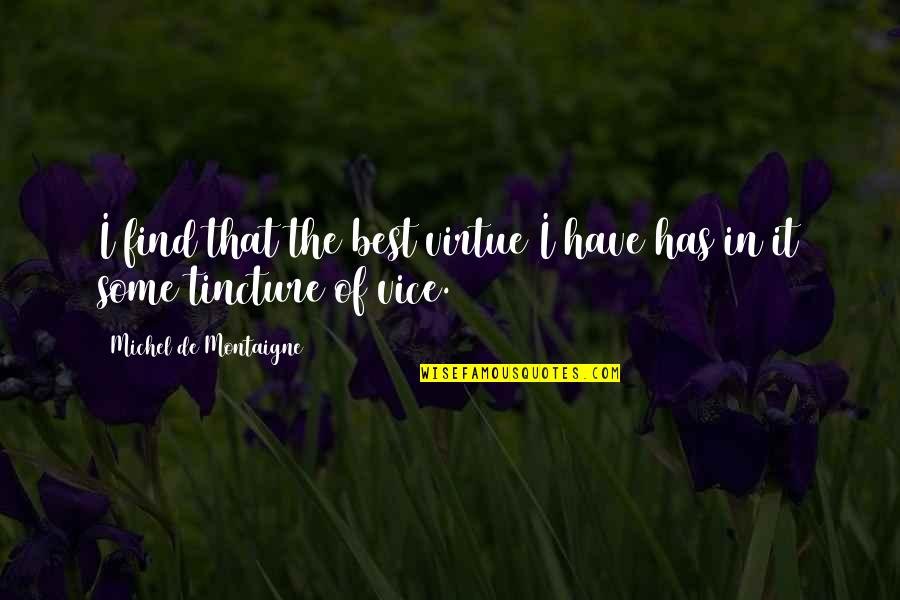 Montaigne Quotes By Michel De Montaigne: I find that the best virtue I have