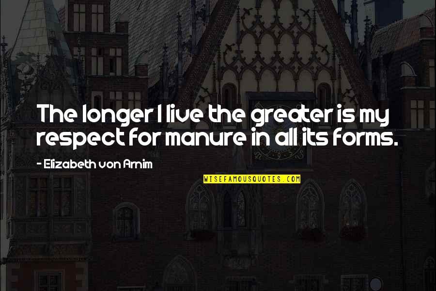 Montblanc Cricket Quotes By Elizabeth Von Arnim: The longer I live the greater is my