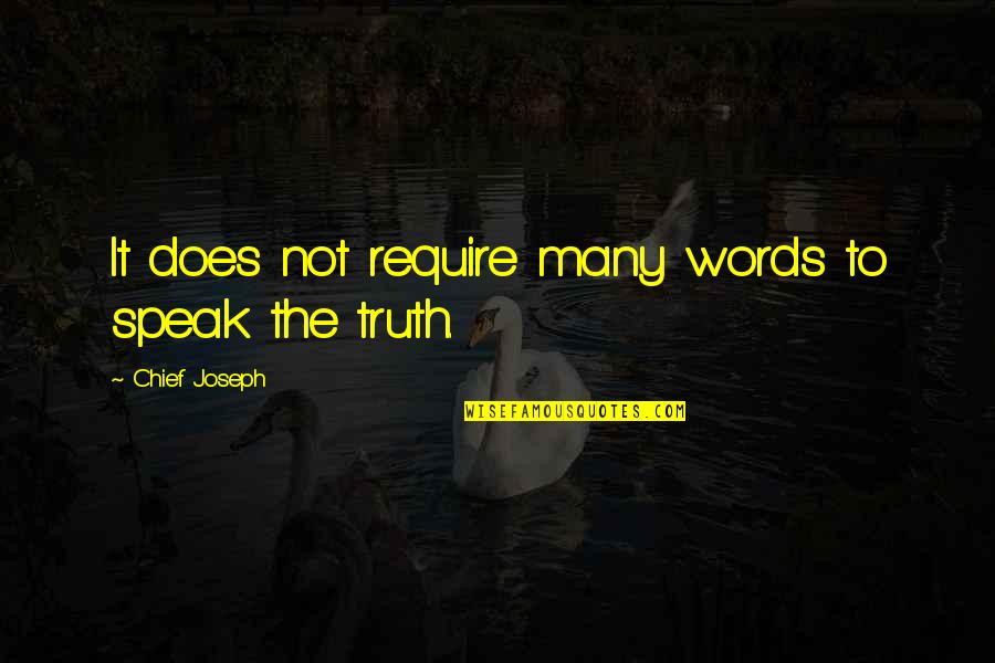 Montmorency Quotes By Chief Joseph: It does not require many words to speak