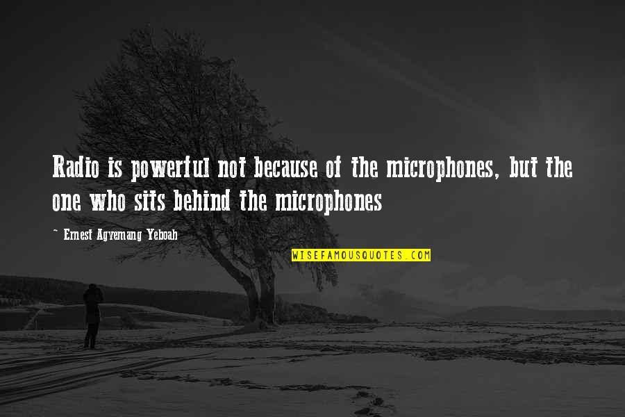 Monty Python Parrot Quotes By Ernest Agyemang Yeboah: Radio is powerful not because of the microphones,