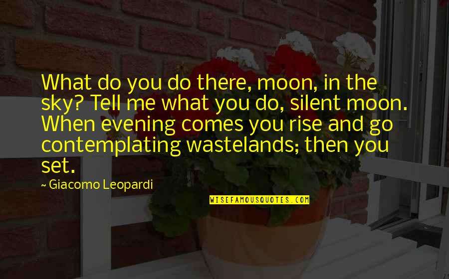 Moon And Sky Quotes By Giacomo Leopardi: What do you do there, moon, in the