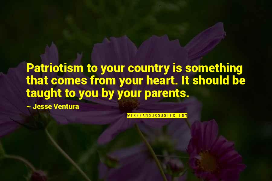 Moonlighting Agnes Dipesto Quotes By Jesse Ventura: Patriotism to your country is something that comes