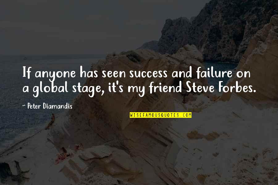 Moonlit Quotes By Peter Diamandis: If anyone has seen success and failure on