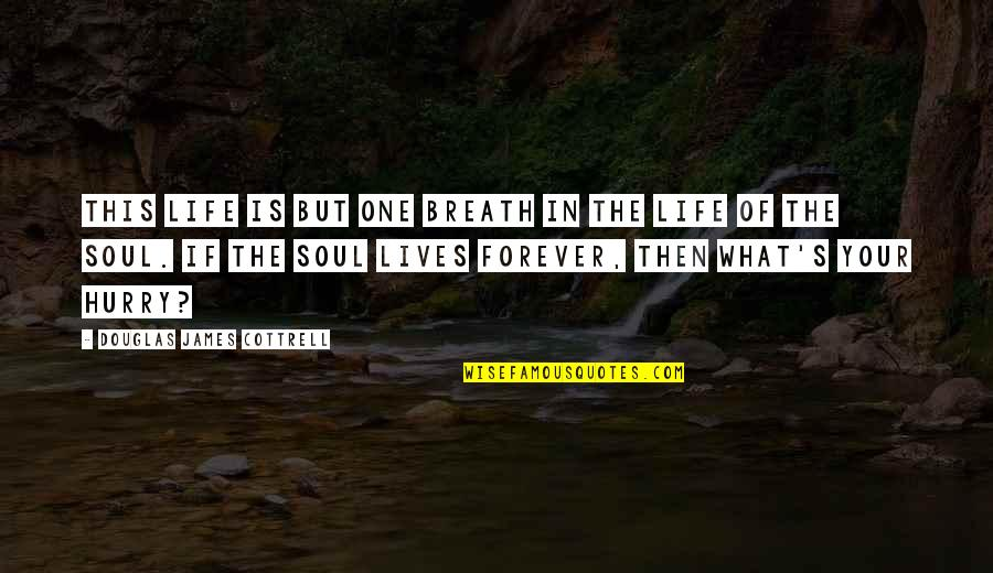 More Than Friends Picture Quotes By Douglas James Cottrell: This life is but one breath in the