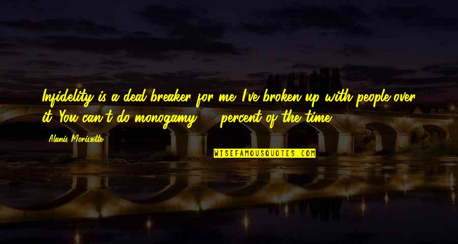 Morissette Quotes By Alanis Morissette: Infidelity is a deal breaker for me. I've