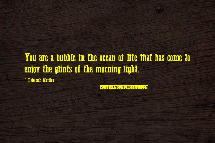 Morning Light Quotes By Debasish Mridha: You are a bubble in the ocean of