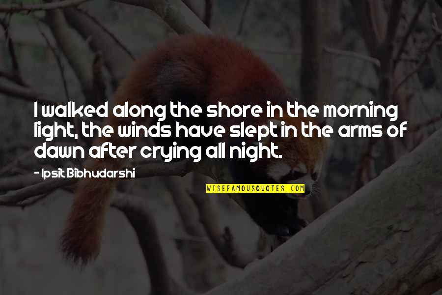 Morning Light Quotes By Ipsit Bibhudarshi: I walked along the shore in the morning