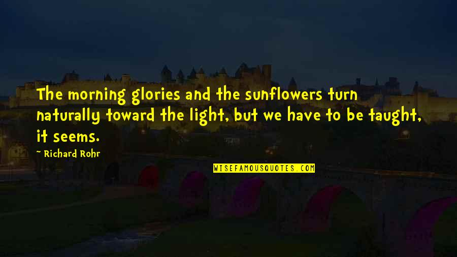 Morning Light Quotes By Richard Rohr: The morning glories and the sunflowers turn naturally