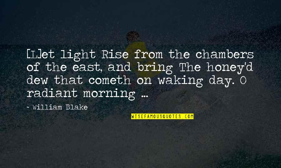 Morning Light Quotes By William Blake: [L]et light Rise from the chambers of the