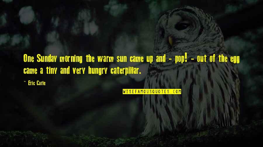 Morning Sun Quotes By Eric Carle: One Sunday morning the warm sun came up